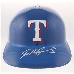Ivan Rodriguez Signed Texas Rangers Full-Size Replica Batting Helmet (JSA COA)