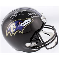 "Jamal Lewis Signed Baltimore Ravens Full-Size Helmet Inscribed ""SB XXXV Champs"" (Schwartz COA)"