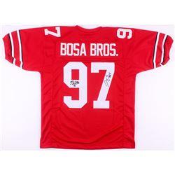 """Nick Bosa  Joey Bosa Signed Ohio State Buckeyes """"Bosa Bros."""" Jersey (JSA COA)"""