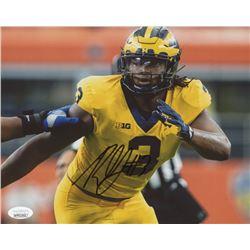 Rashan Gary Signed Michigan Wolverines 8x10 Photo (JSA COA)