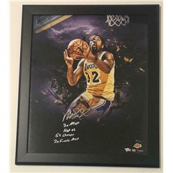 """Magic Johnson Signed Los Angeles Lakers 20x24 Custom Framed Limited Edition Photo Inscribed """"3X MVP"""""""