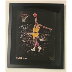 """Kobe Bryant Signed Los Angeles Lakers 20x24 Custom Framed Limited Edition Photo Inscribed """"Black Mam"""