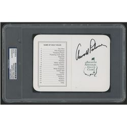 Arnold Palmer Signed Augusta National Golf Club Score Card (PSA Encapsulated)