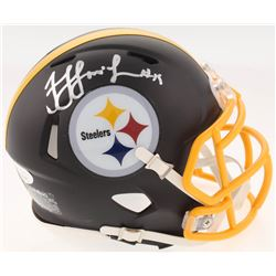 JuJu Smith-Schuster Signed Pittsburgh Steelers Matte Black Speed Mini-Helmet (JSA COA)