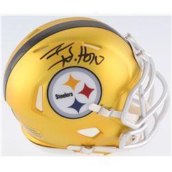 T. J. Watt Signed Pittsburgh Steelers Blaze Speed Mini Helmet (JSA COA  Watt Hologram)