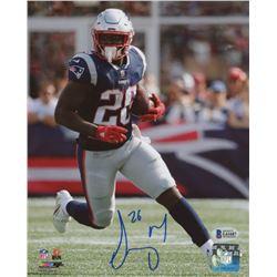 Sony Michel Signed New England Patriots 8x10 Photo (Beckett COA)