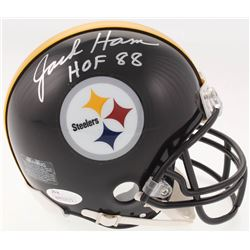 "Jack Ham Signed Pittsburgh Steelers Mini Helmet Inscribed ""HOF 88"" (JSA COA)"