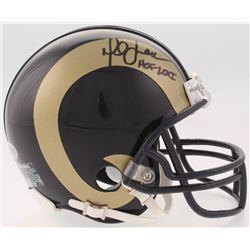 "Marshall Faulk Signed St. Louis Rams Mini Helmet Inscribed ""HOF 20XI"" (Beckett COA)"