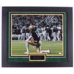 Robert Griffin III Signed Baylor Bears 23.5x27.5 Custom Framed Photo Display (JSA COA)