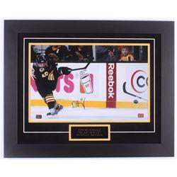 David Krejci Signed Bruins 20.5x25.5 Custom Framed Photo Display (Krejci Hologram)