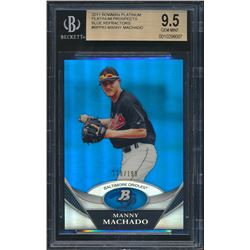 2011 Bowman Platinum Prospects Blue Refractors #BPP83 Manny Machado (BGS 9.5)