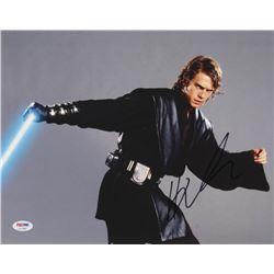 Hayden Christensen Signed  Star Wars  11x14 Photo (PSA COA)