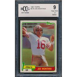 1981 Topps #216 Joe Montana RC (BCCG 9)
