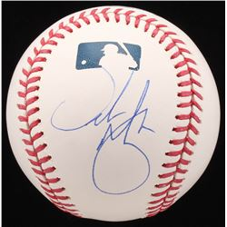 Urban Meyer Signed OML Baseball (JSA COA)
