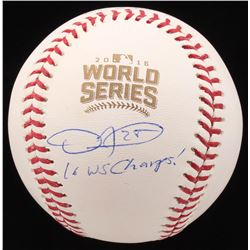"Dexter Fowler Signed 2016 World Series Baseball Inscribed ""16 WS Champs!"" (JSA COA)"