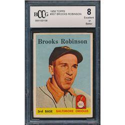 1958 Topps #307 Brooks Robinson (BCCG 8)