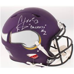 "Cris Carter Signed Minnesota Vikings Full-Size Authentic On-Field Speed Helmet Inscribed ""Buckeyes"""