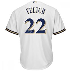 Christian Yelich Signed Milawuakee Brewers Jersey (Steiner COA)
