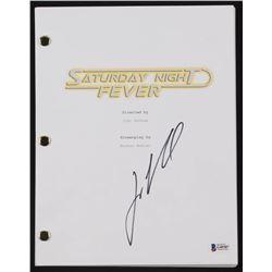 """John Travolta Signed """"Saturday Night Fever"""" Full Movie Script (Beckett COA)"""