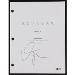 "Willem Dafoe Signed ""Aquaman"" Full Movie Script (Beckett COA)"