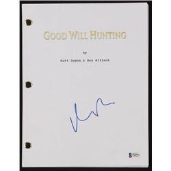 """Matt Damon Signed """"Good Will Hunting"""" Full Movie Script (Beckett COA)"""