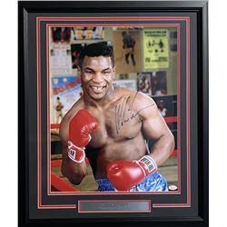 Mike Tyson Signed 22x27 Custom Framed Photo Display (JSA Hologram)