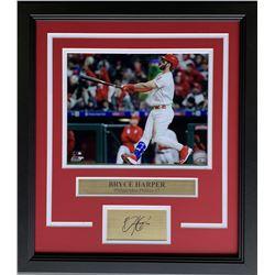 Bryce Harper Philadelphia Phillies 17x19 Custom Framed Photo Display with Laser Engraved Signature