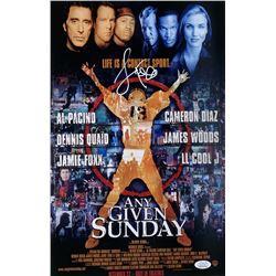 """Jamie Foxx Signed """"Any Given Sunday"""" 11x17 Movie Poster Photo (JSA COA)"""