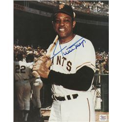 Willie Mays Signed New York Giants 8x10 Photo (Autograph Reference COA)