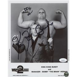 King Kong Bundy  Bobby Heenan Signed 8x10 Photo (JSA COA)