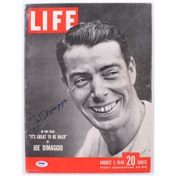 Joe DiMaggio Signed Vintage 1949 Life Magaine (PSA LOA)