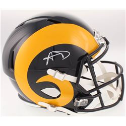 Aaron Donald Signed Los Angeles Rams Full-Size Speed Color Rush Helmet (JSA COA)