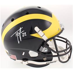 Ty Law Signed Michigan Wolverines Full-Size Helmet (Radtke COA)