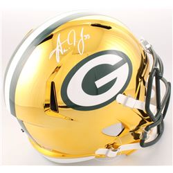 Aaron Jones Signed Green Bay Packers Full-Size Speed Helmet (Beckett COA)