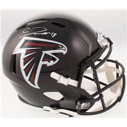 Calvin Ridley Signed Atlanta Falcons Full-Size Speed Helmet (Radtke COA  Ridley Hologram)