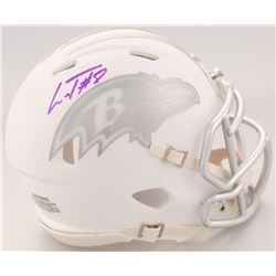 Lamar Jackson Signed Baltimore Ravens White ICE Speed Mini Helmet (Schwartz Sports COA)