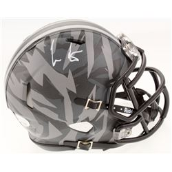 Cris Carter Signed Ohio State Buckeyes Camo Speed Mini Helmet (JSA COA)