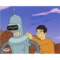 "George Takei Signed ""Futurama"" 8x10 Photo Inscribed ""Fondly"" (PSA COA)"