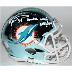 "Ricky Williams Signed Miami Dolphins Chrome Speed Mini-Helmet Inscribed ""Smoke Weed Everyday"" (JSA C"