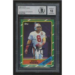 Steve Young Signed 1986 Topps #374 RC (BGS Encapsulated)