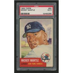 1953 Topps #82 Mickey Mantle (PSA 5)