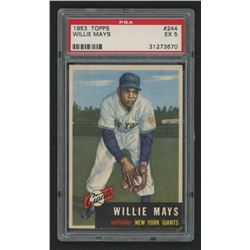 1953 Topps #244 Willie Mays (PSA 5)
