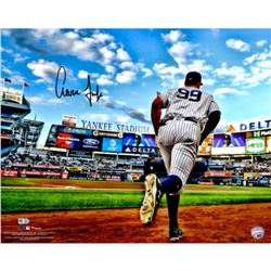 """Aaron Judge Signed New York Yankees """"Running out of the Dugout"""" 16x20 Photo (Fanatics Hologram  MLB"""