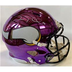 Adam Thielen Signed Minnesota Vikings Full-Size Authentic On-Field Chrome Speed Helmet (Beckett COA)