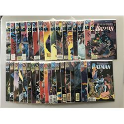 """Lot of (72) 1992-1998 """"Detective Comics"""" 1st Series DC Comic Books from #650-720 with #682 Variant"""