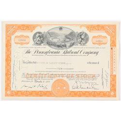 "Vintage 1958 ""The Pennsylvania Raildroad Company"" (10) Shares Stock Certificate"