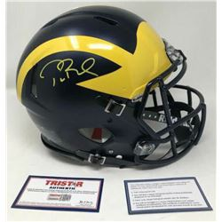 Tom Brady Signed Michigan Wolverines Full-Size Authentic On-Field Speed Helmet (TriStar Hologram)
