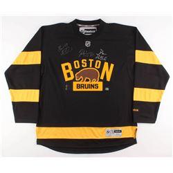 Brad Marchand, Patrice Bergeron  David Pastrnak Signed Boston Bruins Jersey (Marchand COA  Bergeron