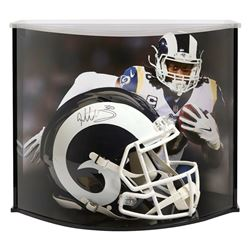 Todd Gurley Signed Los Angeles Rams Full-Size Authentic On-Field Speed Helmet with Curve Display Cas