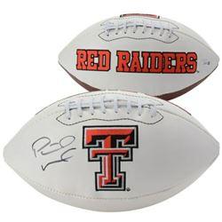 Patrick Mahomes Signed Texas Tech Red Raiders Logo Football (Fanatics Hologram)